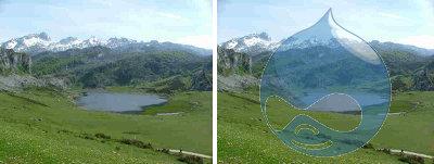 Ejemplo de marca de agua en una imagenen drupal