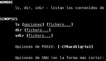 Man de linux en español