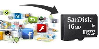 Mover cualquier aplicación a la sd en Android