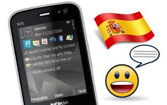 Voces en español en el N78
