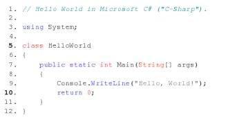 Ejemplo de coloreado de codigo en la mediawiki