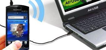 Xperia Neo compartiendo conexión a internet por el usb