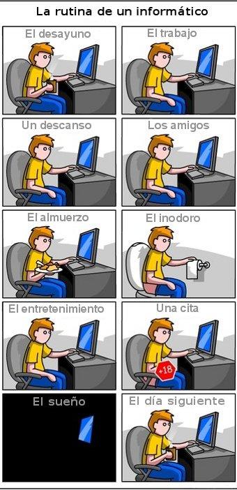 La rutina de un informático