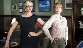 Cameron Diaz y Lucy Punch en Bad Teacher