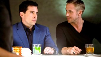 Steve Carell y Ryan Gosling en Crazy, Stupid, Love