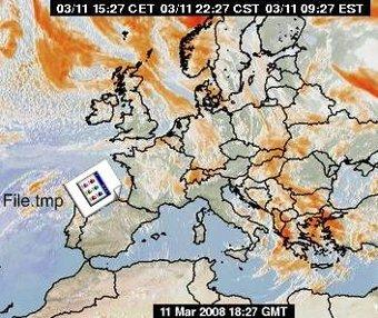 Un temporal entrando por el norte de España